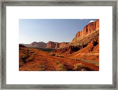 Capitol Reef At Dusk Framed Print