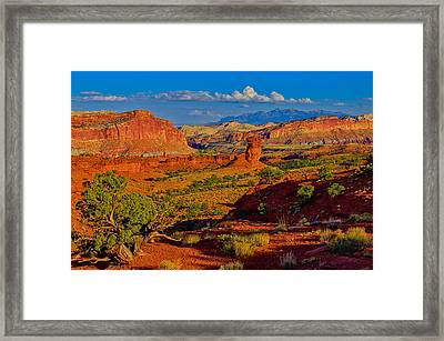 Capitol Reef Landscape Framed Print by Greg Norrell