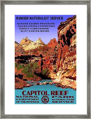 Capitol Reef National Park Vintage Poster Framed Print