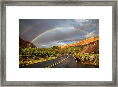 Capitol Reef Rainbow Framed Print by Pierre Leclerc Photography