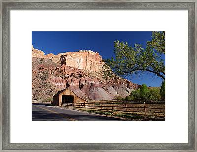 Capitol Reef Ranch Framed Print by Michael J Bauer