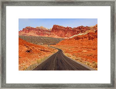Capitol Reef Road Vii Framed Print by Daniel Woodrum