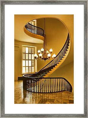 2 - Capitol Staircase - Montgomery Alabama Framed Print by Nikolyn McDonald