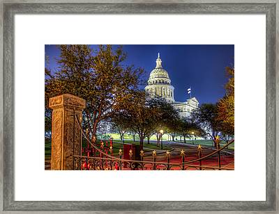 Capitol Stars Framed Print by Tim Stanley