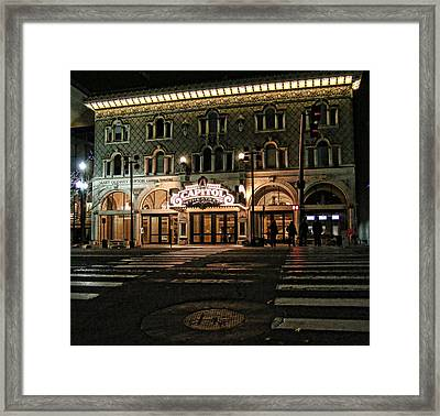 Framed Print featuring the photograph Capitol Theatre by Ely Arsha