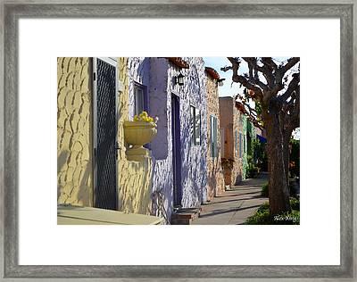 Capitola Beach Homes Framed Print by Alex King