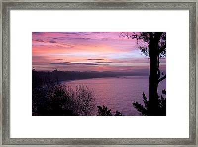 Capitola Bluffs Framed Print by Lora Lee Chapman