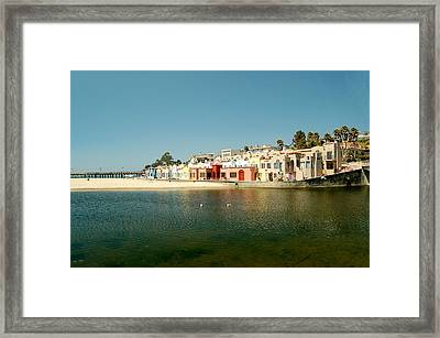 Framed Print featuring the photograph Capitola Villas by Tamyra Crossley