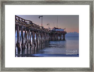 Capitola Wharf At Dusk Framed Print