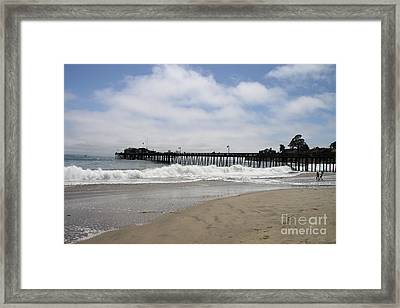 Capitola Wharf Framed Print by Christiane Schulze Art And Photography