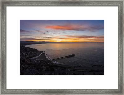 Capitola Wharf Sunrise Framed Print by David Levy