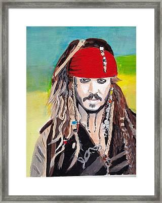 Cap'n Jack Sparrow Framed Print
