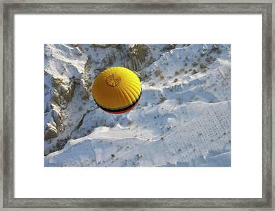 Cappadocia & Balloon Framed Print