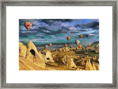 Cappadocia Ballons Fiesta Framed Print