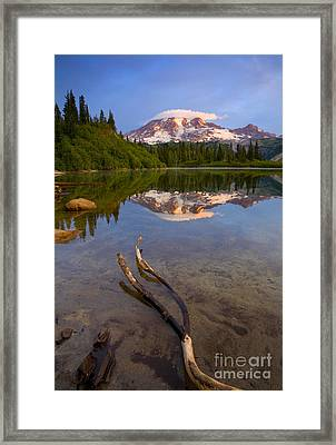 Capped Sunrise Framed Print by Mike  Dawson