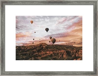 Cappodocia Hot Air Balloon Framed Print