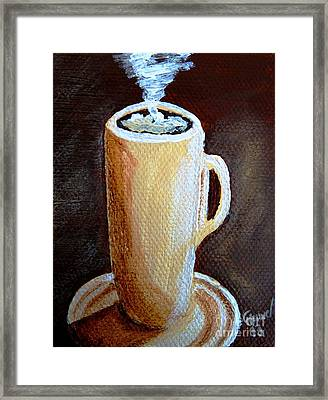 Cappuccino 3 Framed Print by Christine Huwer
