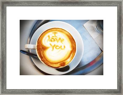 Cappuccino Framed Print