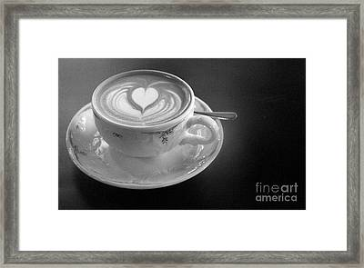 Cappuccino  Framed Print by Louise Fahy