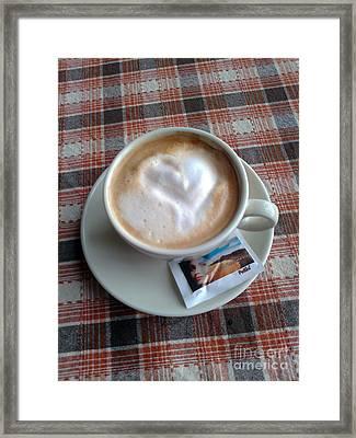 Cappuccino Love Framed Print by Ausra Huntington nee Paulauskaite