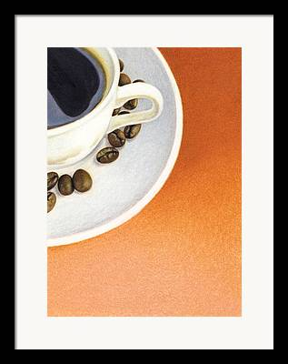 Still Life With Tangerines Drawings Framed Prints