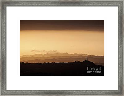 Cappuccino Sunset Framed Print