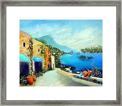Capri Fantasies Framed Print