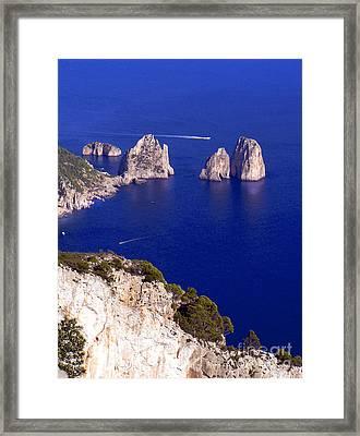 Capri Italy Seascape Framed Print