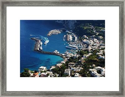 Capri Town Framed Print