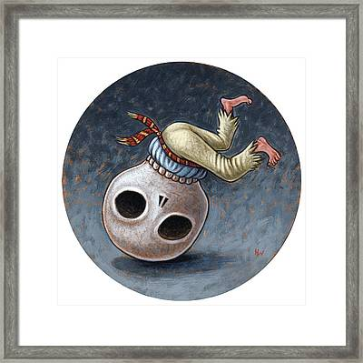 Caprichos Calaveras #1 Framed Print by Holly Wood