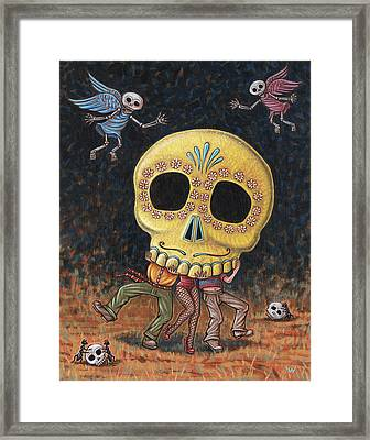 Caprichos Calaveras #2 Framed Print by Holly Wood