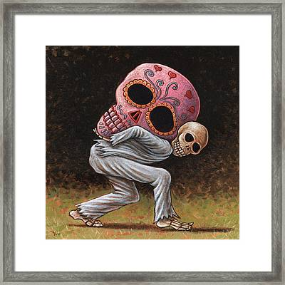 Caprichos Calaveras #4 Framed Print by Holly Wood
