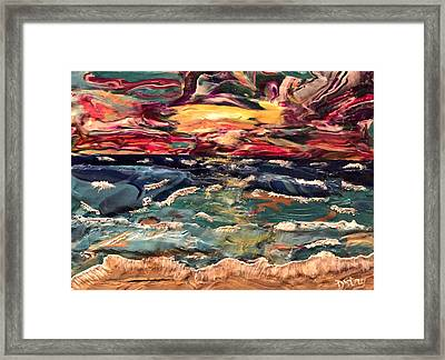 Capricious Sea Framed Print