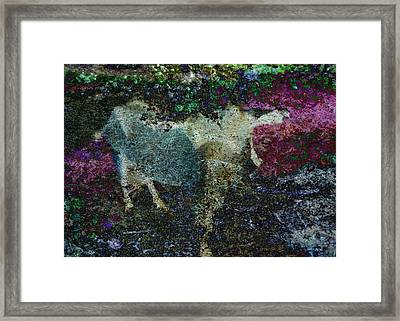 Capricorn Abstract Framed Print by Sarah Vernon