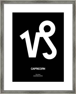 Capricorn Zodiac Sign White Framed Print by Naxart Studio