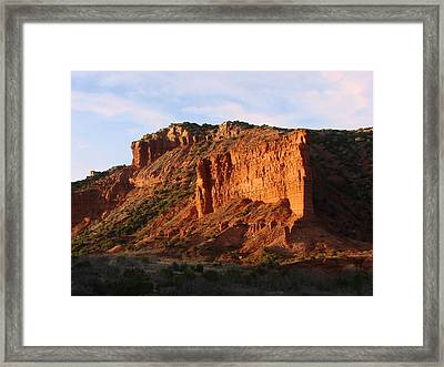 Framed Print featuring the photograph Caprock Canyon by Linda Cox
