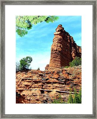 Framed Print featuring the photograph Caprock Canyon Red by Linda Cox