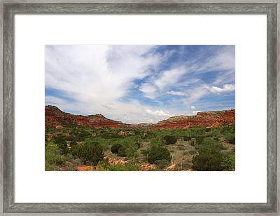 Framed Print featuring the photograph Caprock Canyons State Park 2 by Elizabeth Budd