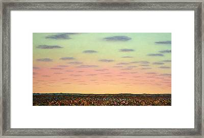 Caprock Sunrise Framed Print by James W Johnson