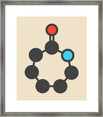 Caprolactam Molecule Framed Print by Molekuul