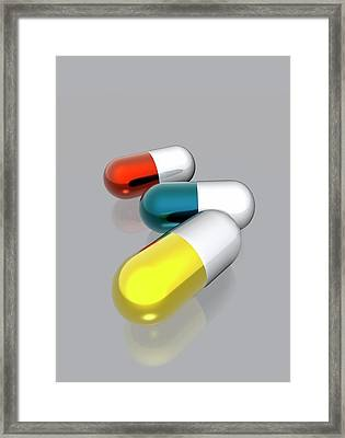 Capsules Framed Print by Victor Habbick Visions