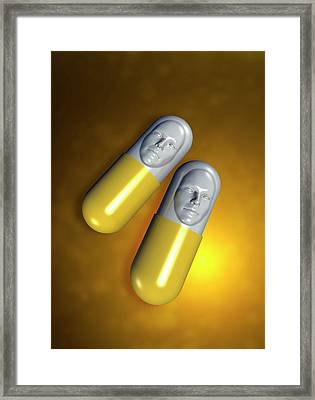 Capsules With Faces Framed Print by Victor Habbick Visions