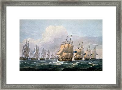 Hms Theseus Framed Print by Frederick Christian Lewis