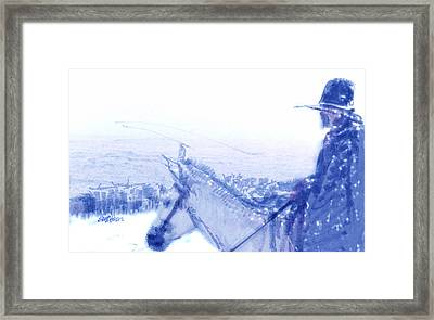 Capt. Call In A Snowstorm Framed Print by Seth Weaver