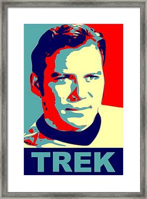 Capt. Kirk Pop Framed Print by Paul Van Scott
