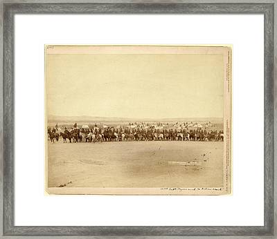 Capt. Taylor And 70 Indian Scouts Framed Print by Litz Collection