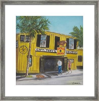 Capt. Tony's Saloon Framed Print