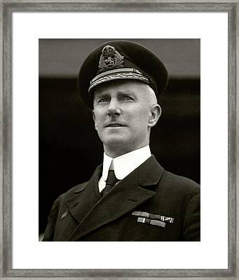 Captain A. H. Rostron Wearing A Naval Uniform Framed Print