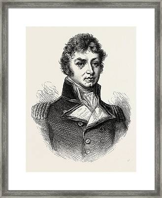Captain Afterwards Sir Philip Broke. From A Portrait Framed Print by American School