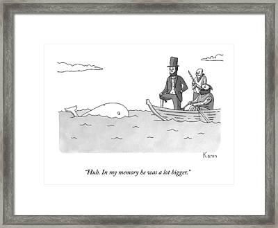 Captain Ahab Finds A Small Whale Framed Print by Zachary Kanin